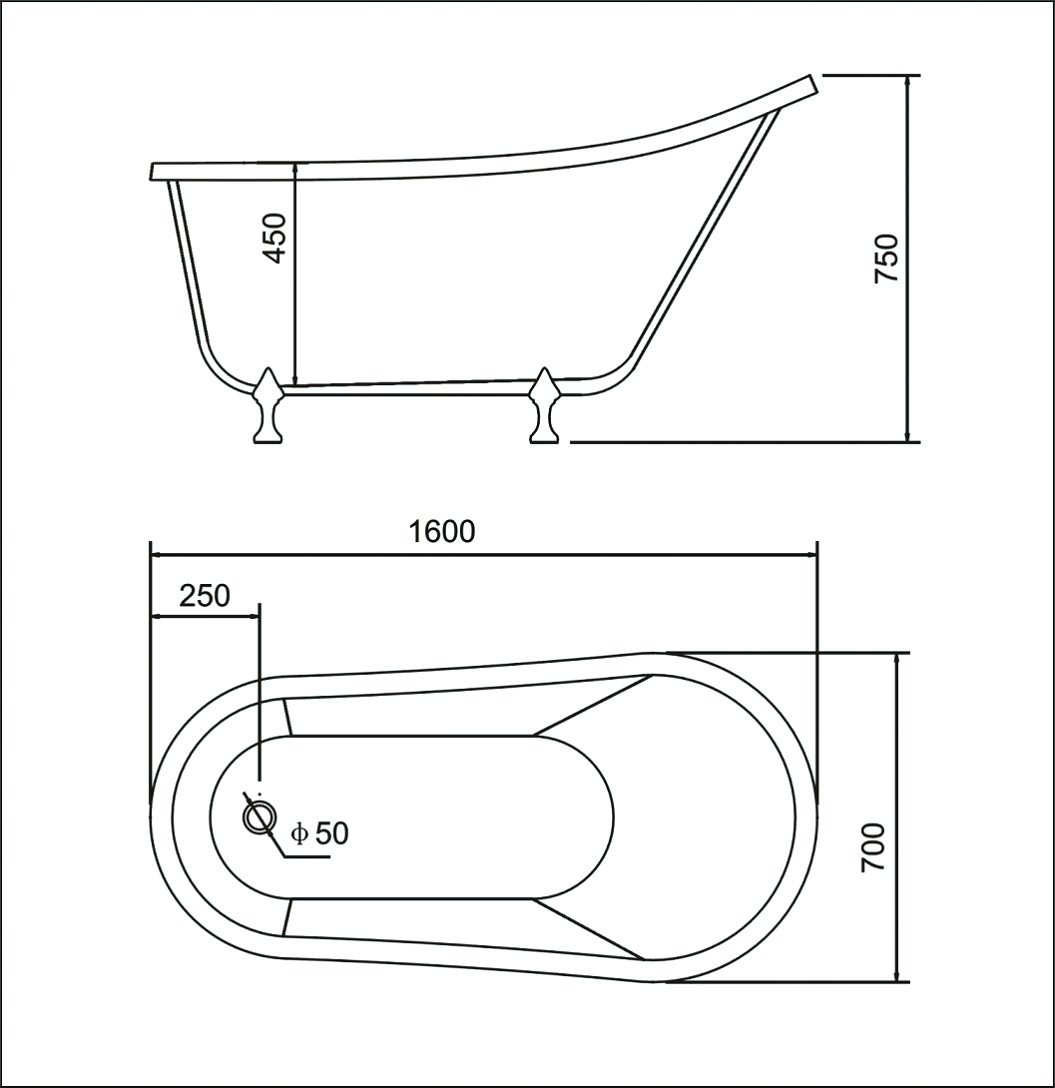 Clawfoot tub length clawfoot tub sizing guide vintage tub for Standard size of freestanding bathtub