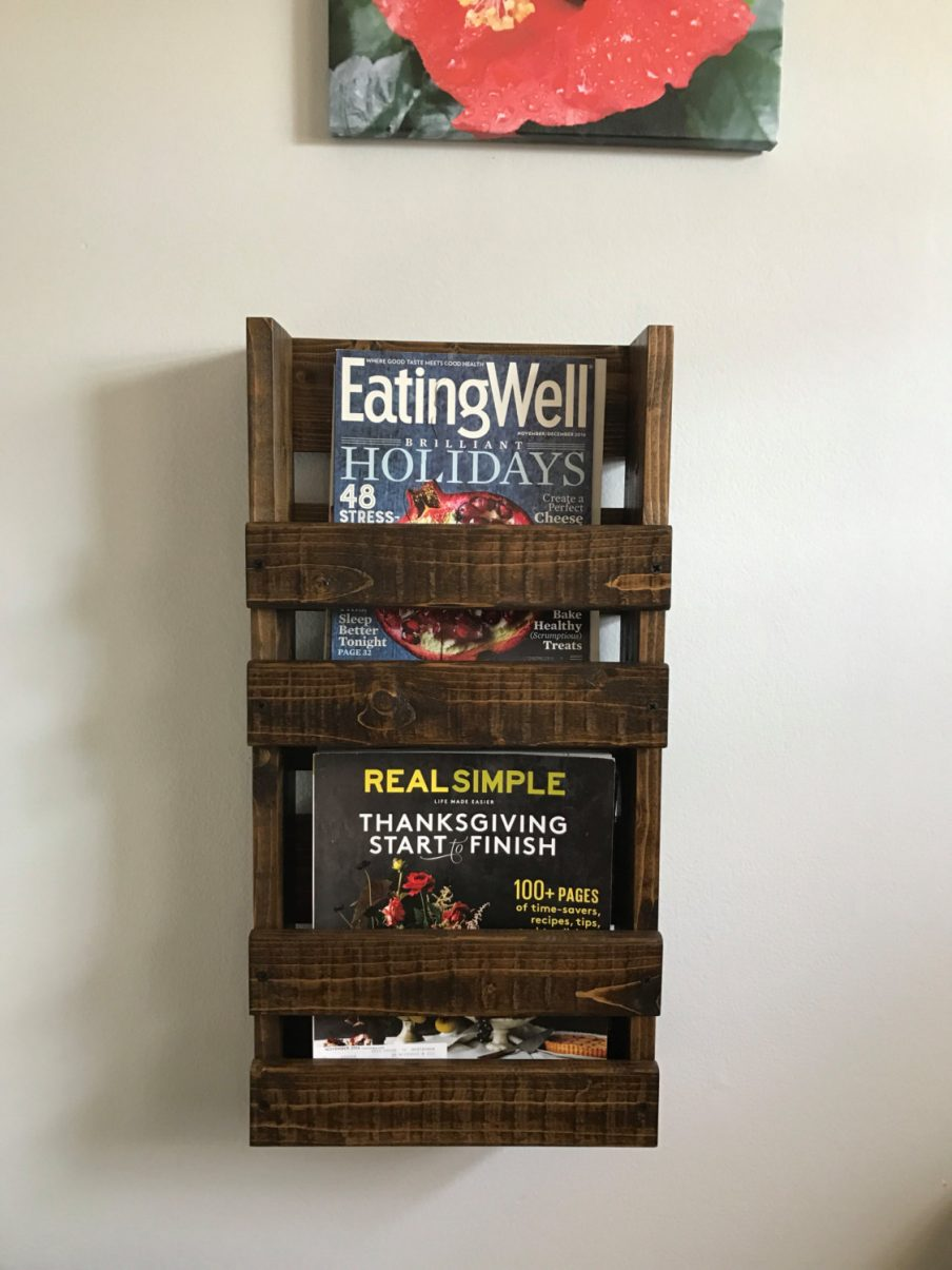 Wall mounted magazine rack plans furniture ideas for for Magazine racks for home